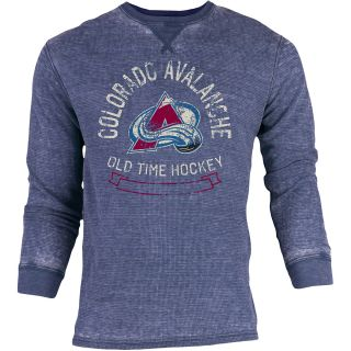 OLD TIME SPORTS Mens Colorado Avalanche Haven Acid Washed Long Sleeve T Shirt