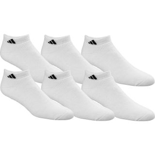 adidas Mens Athletic Low Cut Socks   6 Pack   Size Large, White/black