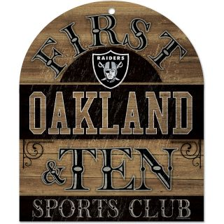 Wincraft Oakland Raiders 10X11 Club Wood Sign (91172010)