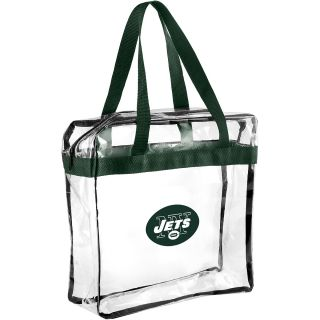 FOREVER COLLECTIBLES New York Jets Clear Messenger Bag, Clear