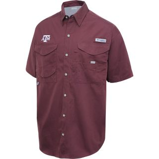COLUMBIA Mens Texas A&M Aggies Bonehead Short Sleeve Shirt   Size 2xl, Maroon