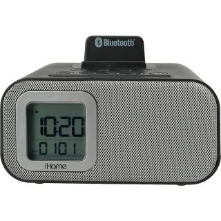 iHOME Wireless Bluetooth Dual Alarm Clock with USB Charger, Black