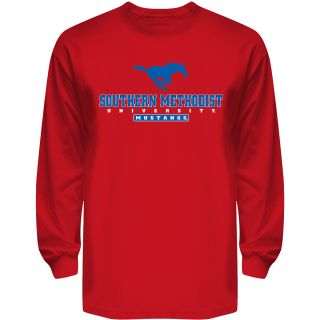 T SHIRT INTERNATIONAL Mens Southern Methodist Mustangs Reload Long Sleeve T
