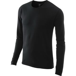 HOT CHILLYS Mens Pepper Skins Midweight Crew Top   Size Large, Black