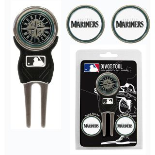 Team Golf MLB Seattle Mariners 3 Marker Signature Divot Tool Pack (637556974457)