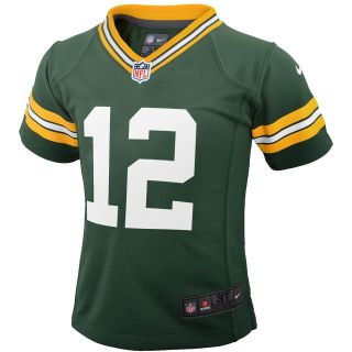 NIKE Youth Green Bay Packers Aaron Rodgers Game Jersey, Ages 4 7   Size Medium