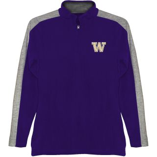 T SHIRT INTERNATIONAL Mens Washington Huskies Quarter Zip Jacket   Size