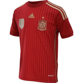 adidas Youth Spain 2014 World Cup Home Replica Soccer Jersey   Size Smallreg,