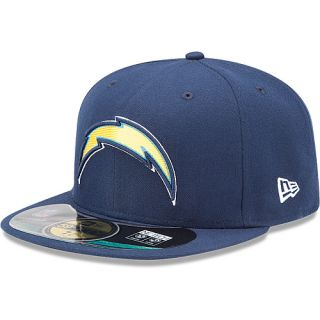 NEW ERA Mens San Diego Chargers Official On Field 59FIFTY Fitted Hat   Size 7.