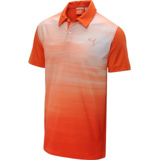 PUMA Mens Digi Sky Golf Polo   Size Small, Orange