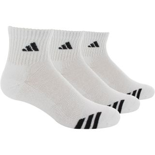 adidas Cushioned 3 Stripe 3 Pack Quarter Socks   Size Sock Size 6 12,