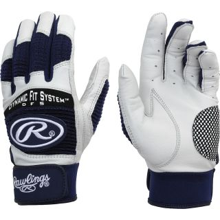 RAWLINGS Adult Workhorse Baseball Batting Gloves   Size Small, Navy
