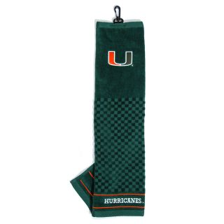 Team Golf University of Miami Hurricanes Embroidered Towel (637556471109)