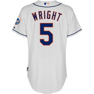 Majestic Athletic New York Mets David Wright Authentic Alternate Home 1 White