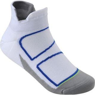 FEETURES Elite Ultra Light No Show Socks   Size Medium, White/reflective