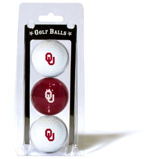 Team Golf University of Oklahoma Sooners 3 Ball Pack (637556244055)