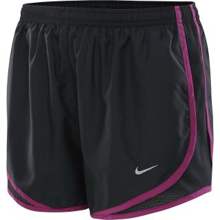 NIKE Womens Tempo Running Shorts   Size Large, Black/magenta