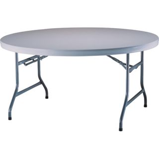 Lifetime 5 Round Utility Table   Size 60 Round, White Granite (22970)