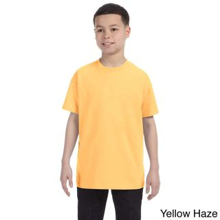 Gildan Youth Heavy Cotton 5.3 ounce T shirt Yellow Size L (14 16)