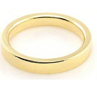 18k Yellow Gold 3mm Flat Wedding Band Heavy Weight Wedding Bands Wholesale Jewelry