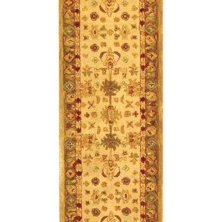 Safavieh Anatolia Collection Handmade Hand Spun Wool Area Runner, 2 Feet 3 Inch by 10 Feet, Ivory/Light Green   Area Rugs