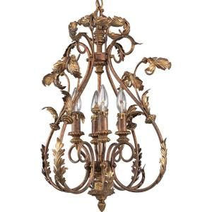 Thomasville Lighting Elysian Collection Golden Brandy 4 light Chandelier DISCONTINUED P4106 02
