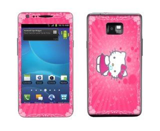Meestick Hello Kitty Pink Vinyl Adhesive Decal Skin for Samsung Galaxy S2 Cell Phones & Accessories