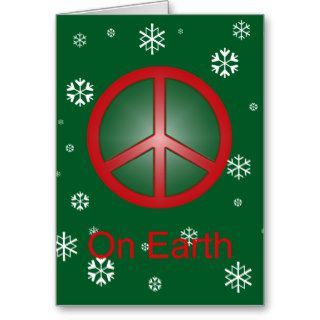 Christmas Peace Sign Cards
