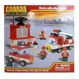 Best Lock Construction Fire Truck, Car and Station   140 Pieces Vehicles, Trains & Remote Control
