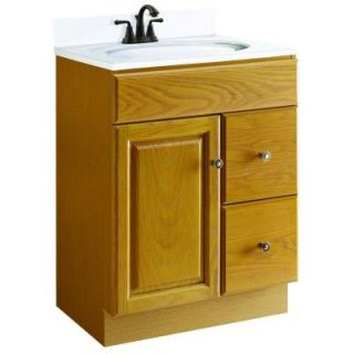 Design House Claremont 24 in. W x 21 in. D Vanity Cabinet Only Unassembled in Honey Oak 545145
