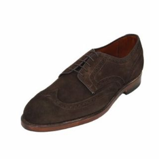 Allen Edmonds Men's Player's Lace Up Oxford Men's Wingtip Dress Shoes 9762 Bit Chocolate Suede (12 D(M) US) Shoes