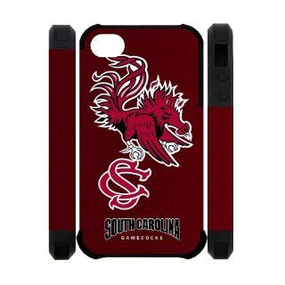 NCAA South Carolina Gamecocks Logo Silicon Cases Cover for iPhone 4/4s Electronics