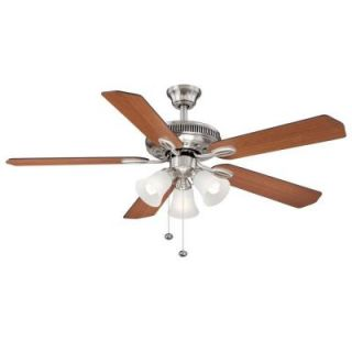 Hampton Bay Glendale 52 in. Brushed Nickel Ceiling Fan AG524 BN
