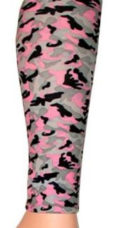 Pink, Grey, and Black Camo Print Footless Tights by Foot Traffic