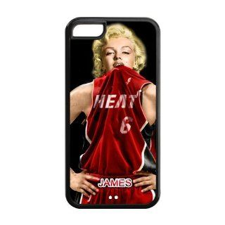 New NBA Miami Heat Superstar LeBron Iphone 5C Case With Marilyn Monroe Hard Plastic Case Cover For Iphone 5C�� Books