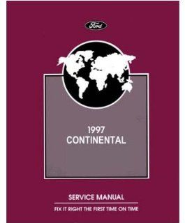 1997 Lincoln Continental Shop Service Repair Manual Book Engine Drivetrain OEM Automotive