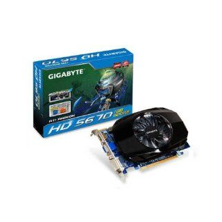 GIGABYTE ATI Radeon HD5670 1 GB DDR5 VGA/DVI/ HDMI PCI Express Video Card, Retail GV R567OC 1GI Electronics