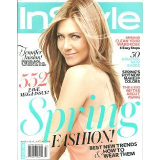 Instyle Magazine 552 Page Mega issue ~ March 2012 ~ Jennifer Aniston instyle Books