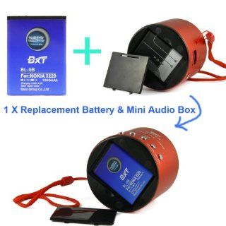 Bao Xin Ultra Smooth Portable Mini Speaker Box Music Music for Car,  MP4 MP5 Player, Computer, Tablet, Cellphone Smart Phone   Sound Record, FM Radio and  File Play Available, Support Micro SD Card and USB Flash Disk (Red)  Vehicle Audio Video Power