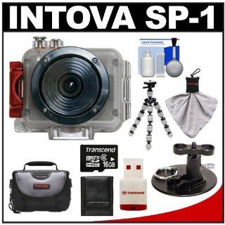 Intova Sport Pro Waterproof HD Sports Video Camera Camcorder with Surf Board Mount + 16GB Card + Case + Flex Tripod + Accessory Kit for Surfing, Wakeboarding, Kiteboarding, Boating and other Watersports  Sports And Action Video Cameras  Camera & Phot