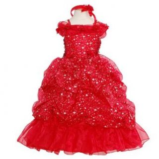 Rain Kids Red Sparkling Stars Pageant Dress Toddler Girls 2T 10 The Rain Kids Baby