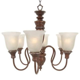 Hampton Bay 6 Light Bronze Chandelier BSG8116