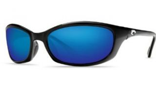 Costa Del Mar Harpoon 580 Glass Mirror Lens sunglasses Black with Blue Mirror lenses Clothing