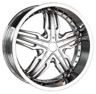 18x7.5 Veloche Solar (585) (Chrome) Wheels/Rims 5x112/120 (585 8709C) Automotive