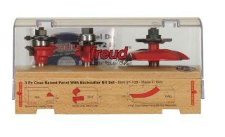 Freud 97 108 3 Piece Cabinet Door Router Bit Set with 99 569 Raised Panel Bit with Backcutter   Vertical Raised Panel Router Bits