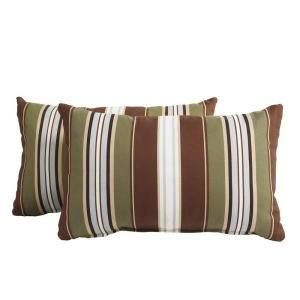 Hampton Bay Bloomfield Stripe Outdoor Breakfast Pillow (2 Pack) 14H 039 BP2