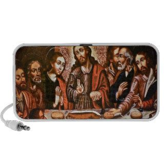 Peru Cusco Cathedral Last Supper w/ Cuy Guinea Pig Notebook Speakers