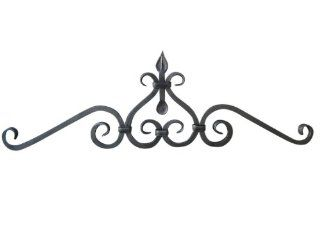 Shoreline Large Wrought Iron Wall Hanging Art Decor Ideal for Interior/Exterior Bronze   Wall Pediments