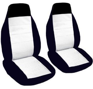 2 black and white car seat covers for a 2008 Chevy Cobalt. Airbag friendly Automotive