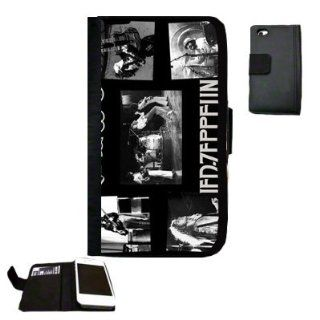 Led Zeppelin Fabric iPhone 4 Wallet Case Great unique Gift Idea Cell Phones & Accessories